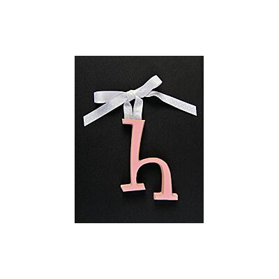 """Forest Creations Letter H Hanging Initial - Ribbon Color: Chocolate with White Dots, Size: 5.5"""", Color: Turquoise at Sears.com"""