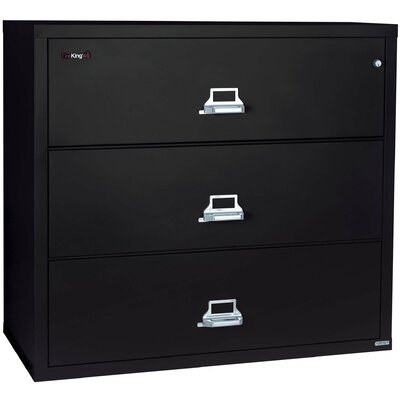 Fireproof 3-Drawer Lateral File Finish: Pewter, Lock: Key Lock Product Picture 109