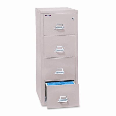 Fireproof Insulated 4-Drawer Vertical File Finish: Parchment, Size: 23.75'' W x 31.56'' D Product Picture 40