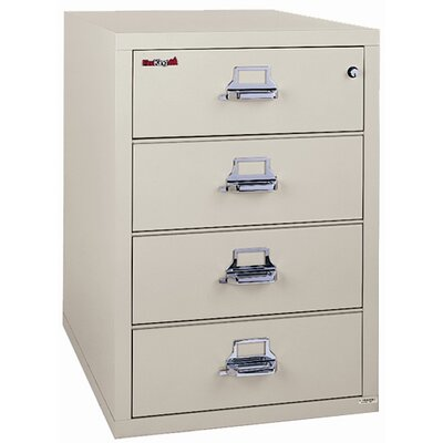 Fireproof 4-Drawer Card, Check and Note Vertical File Finish: Taupe, Lock: Key Lock Product Picture 109