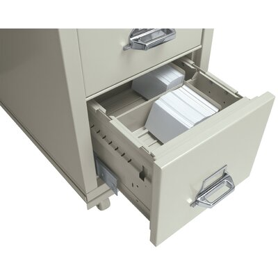 Legal Size Cross Tray for 5 H x 8 W Cards Color: Parchment