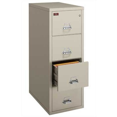 Fireproof 4-Drawer Vertical Letter File Lock: Key Lock, Finish: Taupe Product Image 851