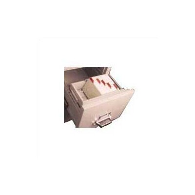 Legal Size Vertical and Lateral File Cross Tray for 4 H x 6 W Cards Color: Tan