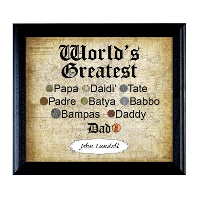 'World's Greatest Dad' Framed Textual Art 14567