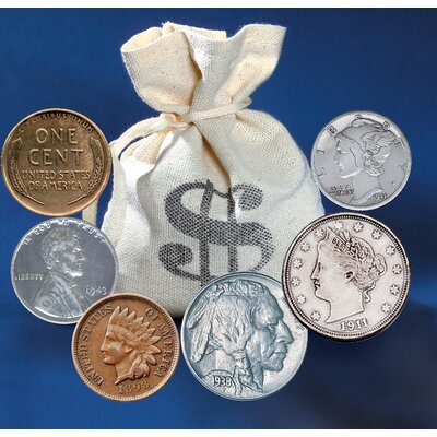 60 Historic Coins Bankers Bag