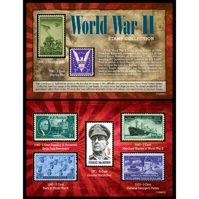 World War II Stamp Memorabilia 11596