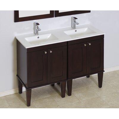 Kimbrell Transitional Floor Mount 68.75 Single Bathroom Vanity Set Faucet Mount: Single Hole