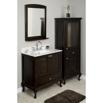 Kimbrell Floor Mount 68.75 Single Bathroom Vanity Set Faucet Mount: 8 Centers