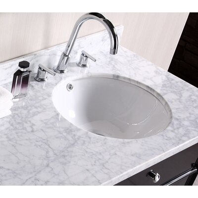 Circular Undermount Bathroom Sink