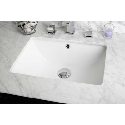 Nixon Floor Mount 23.75 Single Bathroom Rectangular Plywood Vanity Set Top Finish: Bianca Carara, Sink Finish: White, Faucet Mount: 8 Centers