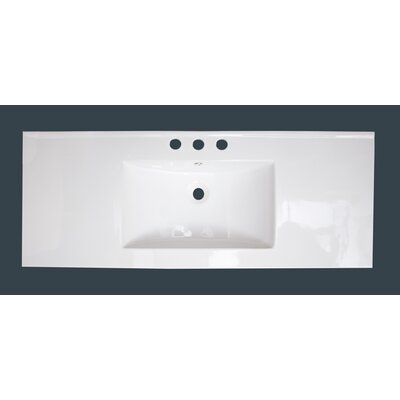 Flair Ceramic 49 Single Bathroom Vanity Top