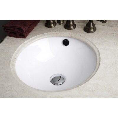 Ceramic Circular Undermount Bathroom Sink with Overflow