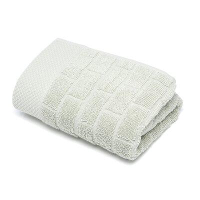 Subway Tile Turkish Cotton Hand Towel Color: Stone (Green)
