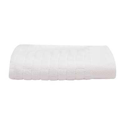 Subway Tile Turkish Cotton Bath Towel Color: Moon (White)