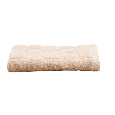Subway Tile Turkish Cotton Hand Towel Color: Prairie (Light Tan)