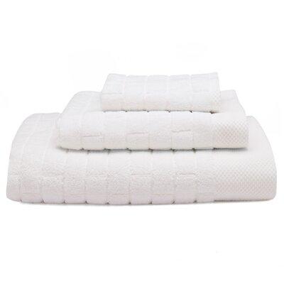 Subway Tile Turkish Cotton Bath Towel Color: Moon (White)