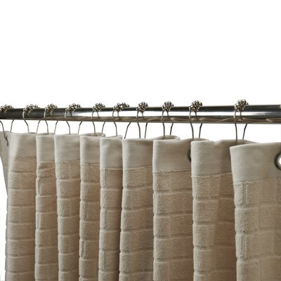 Subway Cotton Tile Shower Curtain Color: Prairie (Light Tan)