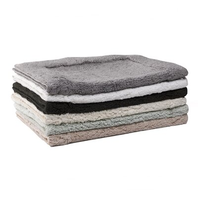 Perennial Reversible Bath Rug Size: Small, Color: Moon (White)