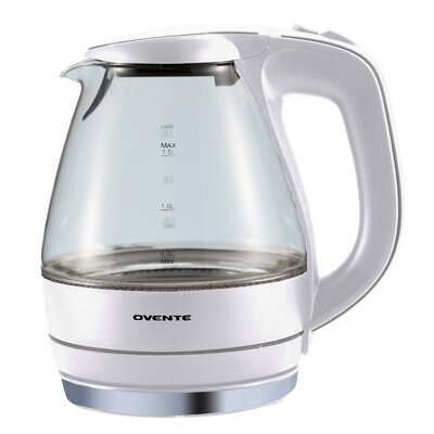 Ovente 1.59-qt. Electric Tea Kettle - Color: White