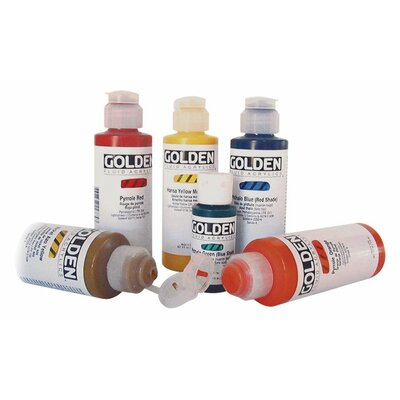 32 Oz Fluid Acrylic Color Paints Color: Carbon Black 0002040-7