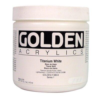 16 Oz Heavy Body Acrylic Color Paints Color: Titanium white 0001380-6
