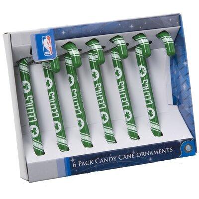 Forever Collectibles NBA Candy Cane Ornaments (Set of 6) - NBA Team: Boston Celtics