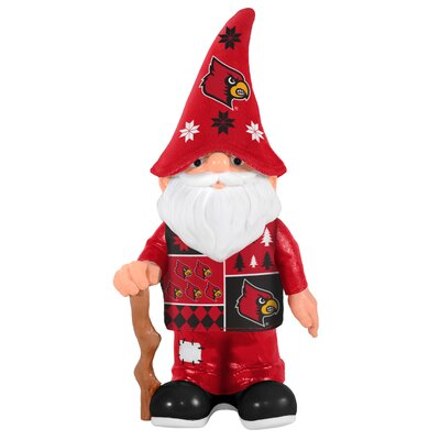 NCAA Real Ugly Sweater Gnome Statue NCAA Team: University of Louisville Cardinals 184869