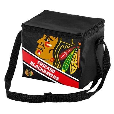 NHL Big Logo Stripe Cooler NHL Team: Chicago Blackhawks