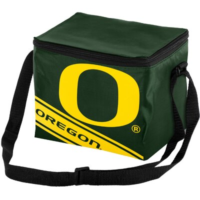 6 Can NCAA Big Logo Stripe Picnic Cooler NCAA Team: University of Oregon Ducks 189374