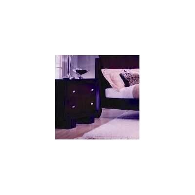 Leda Park Plaza 2 Drawer Nightstand - Finish: Port