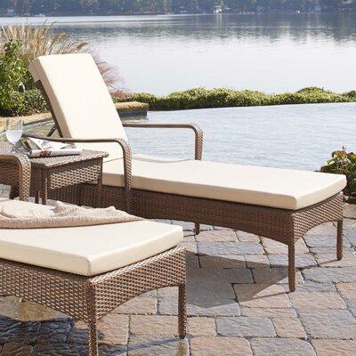 Panama Jack Key Biscayne Chaise Lounge with Cushion - Fabric: Cabaret Blue