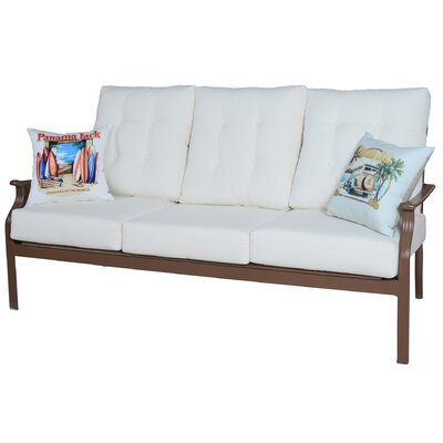 Island Breeze Deep Seating Sofa with Cushions Fabric: Foster Metallic