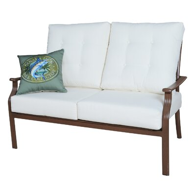 Island Breeze Deep Seating Loveseat with Cushions Fabric: Harwood Peri