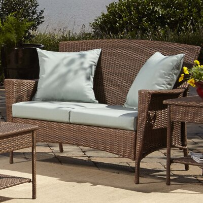 Key Biscayne Loveseat with Cushions Fabric: Canvas Spa