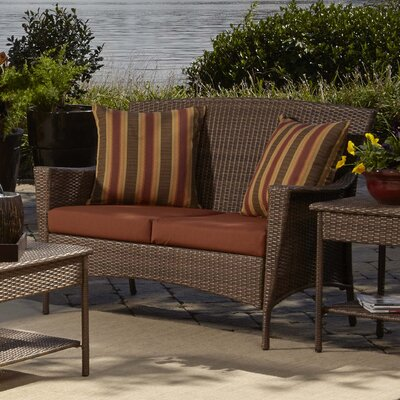 Key Biscayne Loveseat with Cushions Fabric: Canvas Brick