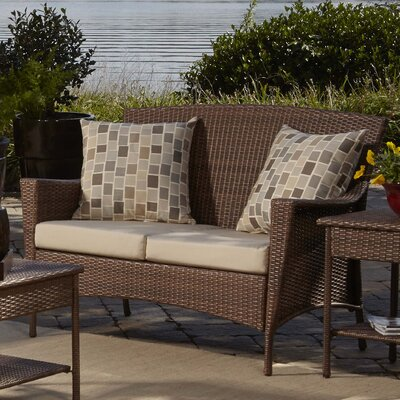 Key Biscayne Loveseat with Cushions Fabric: Canvas Canvas
