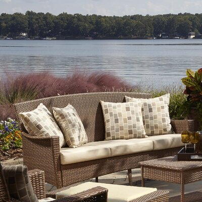 Key Biscayne Sofa with Cushion Fabric: Canvas Canvas
