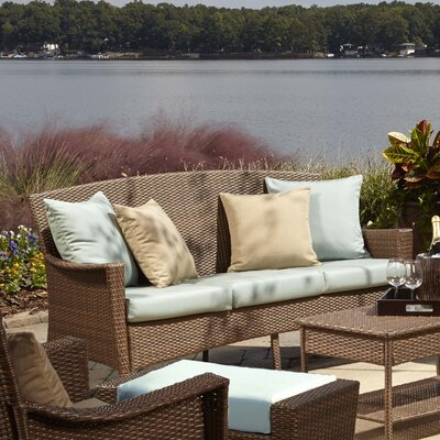 Key Biscayne Sofa with Cushion Fabric: Canvas Spa