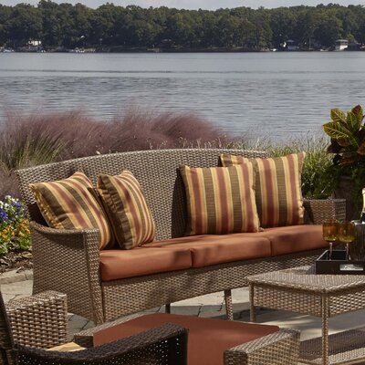 Key Biscayne Sofa with Cushion Fabric: Canvas Brick