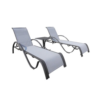 Newport Beach 3 Piece Chaise Lounge Set