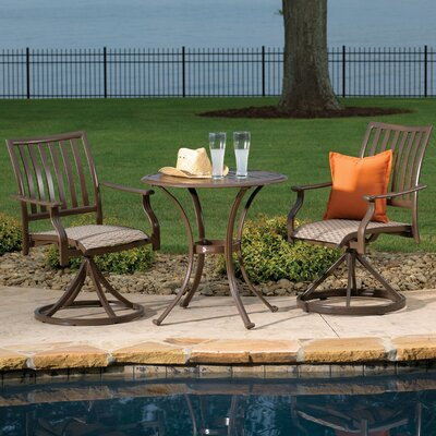 Island Breeze Slatted Dining Bistro Set - Product photo