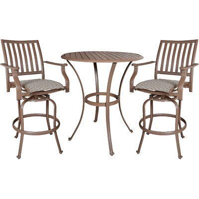 Island Breeze 3 Piece Slatted Bar Set PJHR1195 17571716