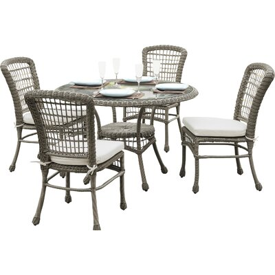 Carolina Beach 5 Piece Dining Set with Cushions