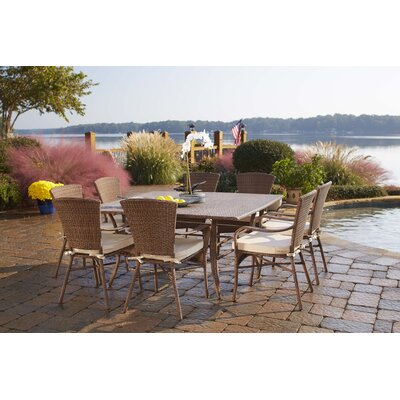Key Biscayne 9 Piece Dining Set Fabric: Canvas Black