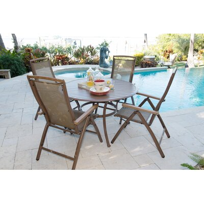 Island Breeze 5 Piece Dining Set Table Size: 48
