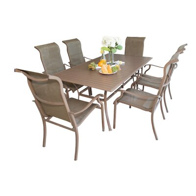 Island Breeze 7 Piece Dining Set Table Size: 60 L x 36 W
