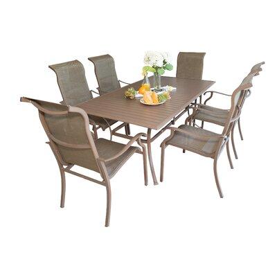 Island Breeze 7 Piece Dining Set Table Size: 72 L x 42 W