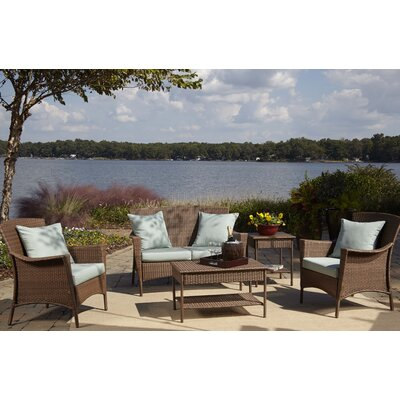 Key Biscayne 5 Piece Deep Seating Group Fabric: Canvas Spa