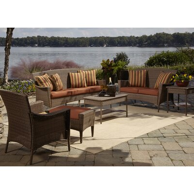 Key Biscayne 5 Piece Seating Group with Cushions Fabric: Foster Metallic