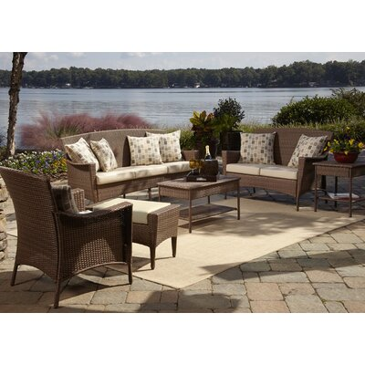 Key Biscayne 5 Piece Seating Group with Cushions Fabric: Canvas Canvas